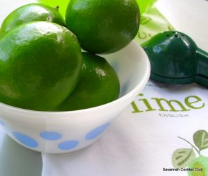 bowl of fresh limes